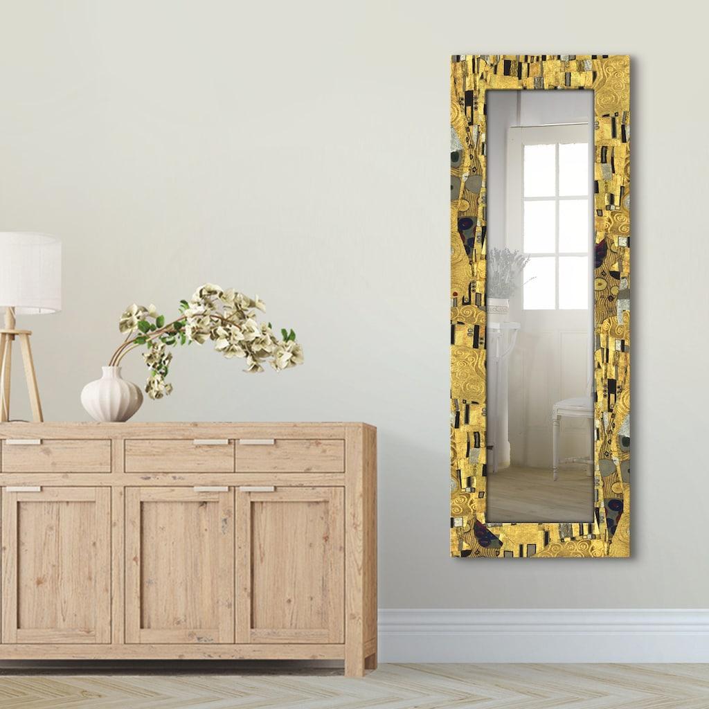 Artland Wandspiegel »Der Kuß«, gerahmter Ganzkörperspiegel mit Motivrahmen, geeignet für kleinen, schmalen Flur, Flurspiegel, Mirror Spiegel gerahmt zum Aufhängen