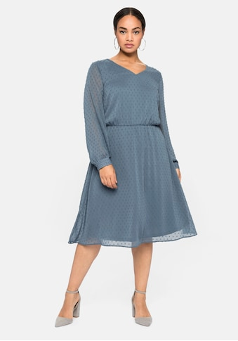 Sheego Abendkleid, mit 3D-Effekt, mit Unterkleid kaufen