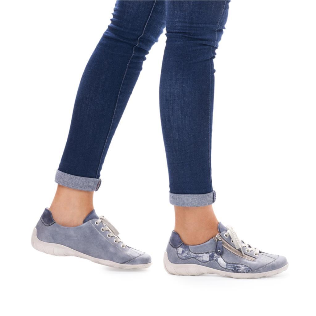 Remonte Schnürschuh, im Jeans-Look