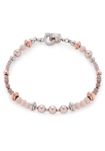 LEONARDO Edelstahlarmband »Clea Darlin's, 016968«, mit Glassteinen und imit. Perlen kaufen