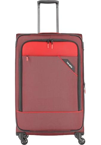 """travelite Weichgepäck - Trolley """"Derby, 77 cm, rot"""", 4 Rollen kaufen"""
