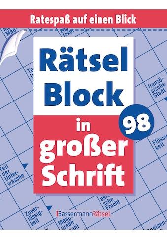 Buch »Rätselblock in großer Schrift 98 (5 Exemplare à 2,99 EUR) / Eberhard Krüger« kaufen