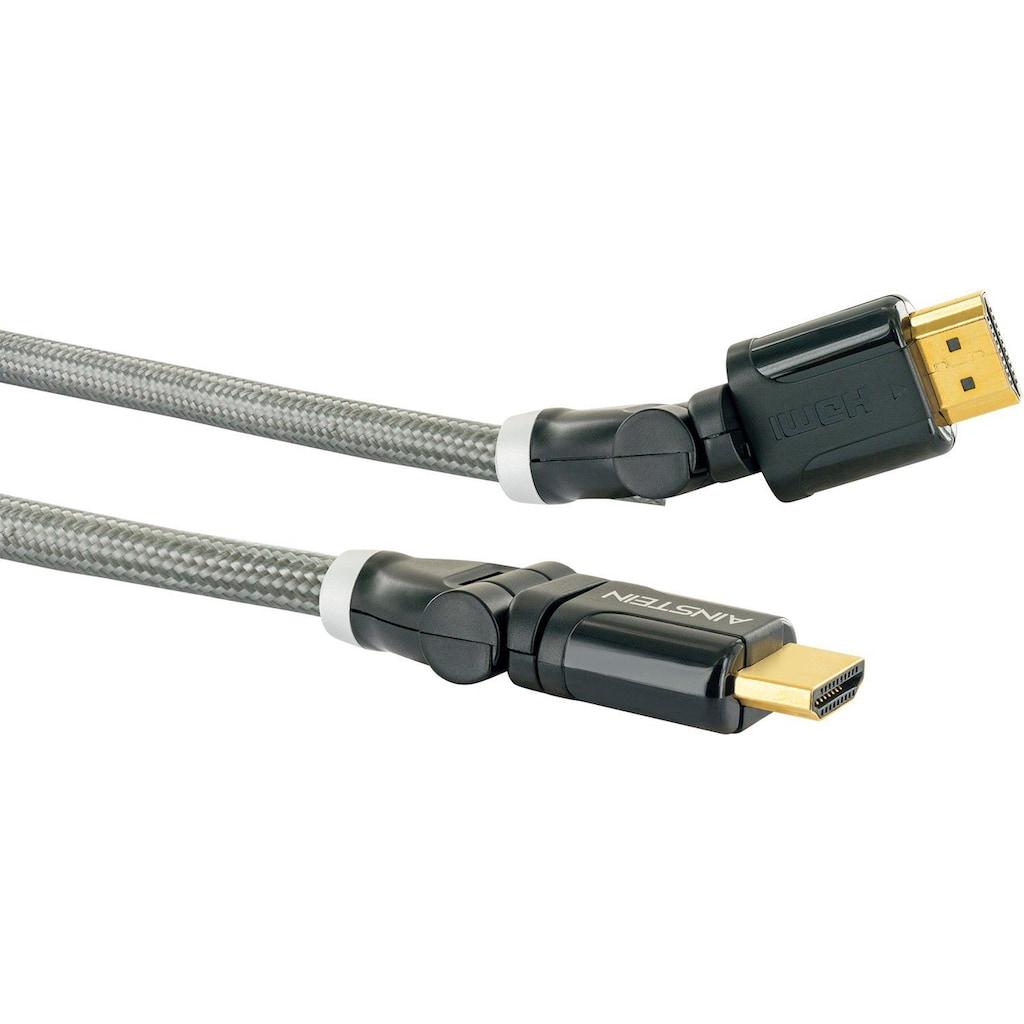 Schwaiger Highspeed HDMI Kabel mit Ethernet, 4K, Full HD, 3D, Ultra HD »mit 360° Winkelstecker«