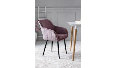 SalesFever Armlehnstuhl, mit Diamantsteppung auf der Rückseite kaufen