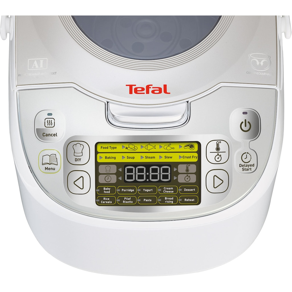 Tefal Multikocher »45in1 RK8121«, 45 automatische Kochprogramme, verzögerter Start, Warmhaltefunktion, 5L Kapazität, LC-Display