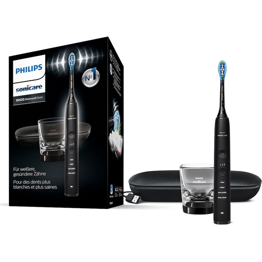 Philips Sonicare Elektrische Zahnbürste »HX9911«, 1 St. Aufsteckbürsten, DiamondClean Premium Schallzahnbürste, inkl. Ladeglas und USB-Reiseetui