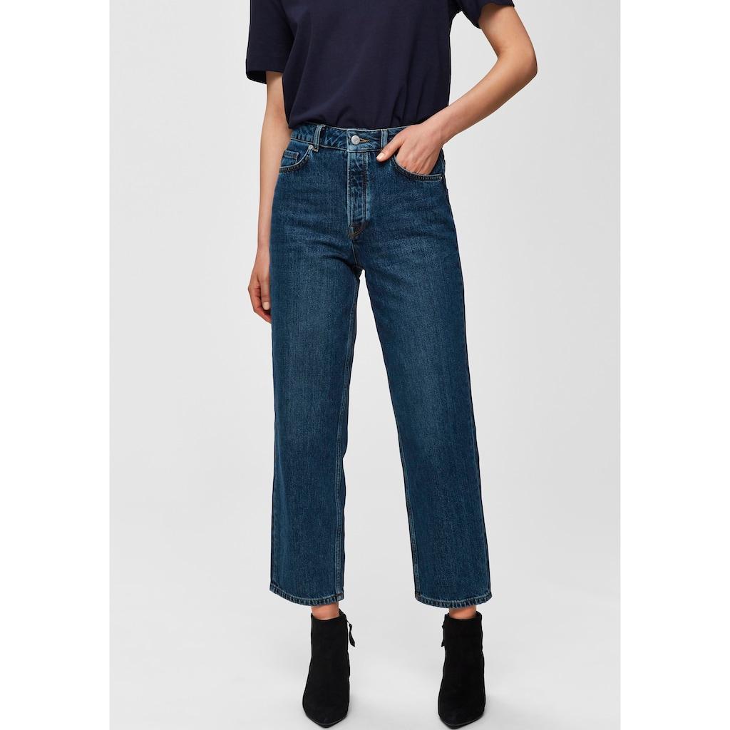 SELECTED FEMME Straight-Jeans »SLFKATE«, aus Denim in Bio-Baumwollqualität