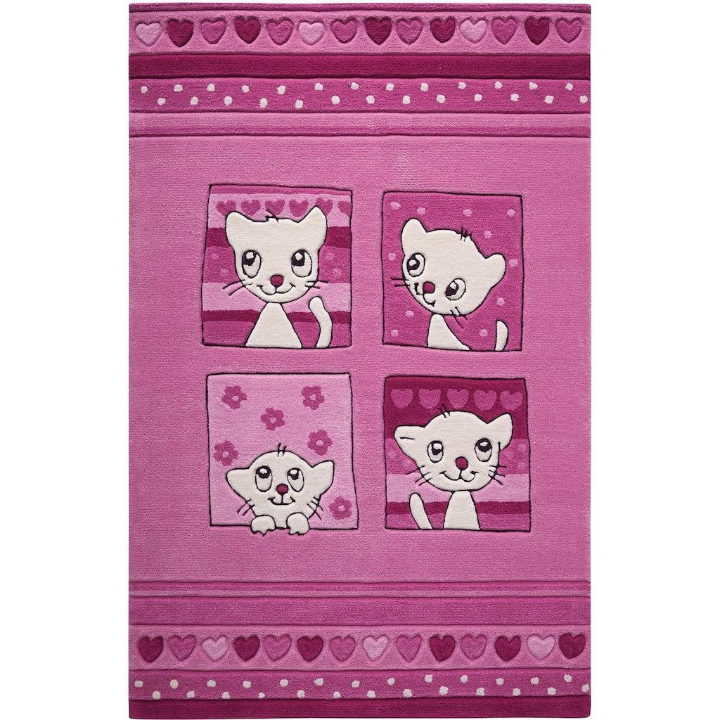 SMART KIDS Kinderteppich »Kitty Kat«, rechteckig, 10 mm Höhe, mit Katzenmotiv
