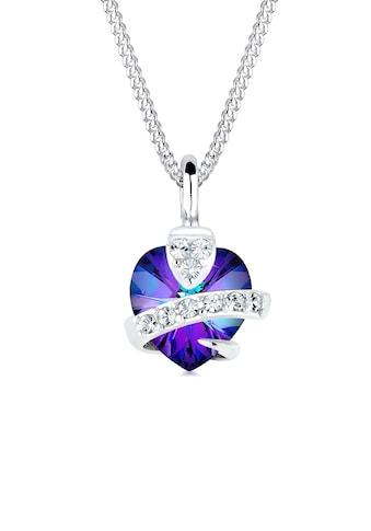 Elli Collierkettchen »Herz Glamourös Kristalle 925 Silber« kaufen