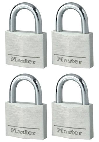 MASTER LOCK Set: Vorhängeschloss 40 mm aus Aluminium, 4er Pack gleichschließend kaufen
