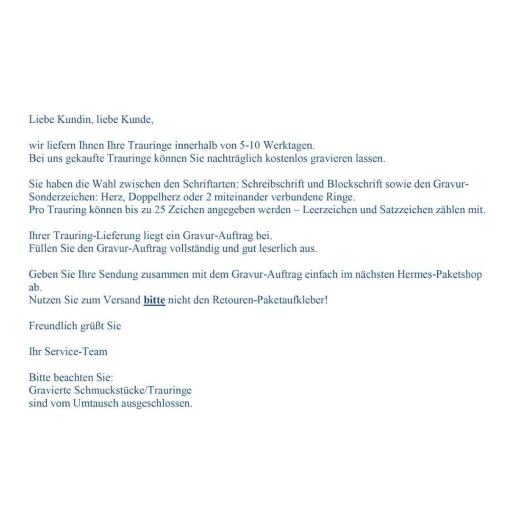Firetti Trauring mit Gravur »glanz, Glanzfräsung, 3,5 mm breit«, Made in Germany, wahlweise mit oder ohne Brillanten