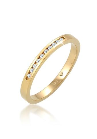 Diamore Diamantring »Verlobung Bandring Diamant (0.05 ct.) 585 Gelbgold« kaufen