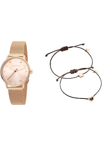 Esprit Quarzuhr »Noel, ES1L174M0085«, (Set, 3 tlg., mit 2 Armbändern) kaufen