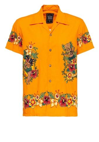 KingKerosin Hawaiihemd »Hawaiian«, kurzarm mit hawaiianischem Print kaufen