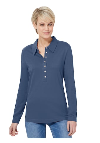 Casual Looks Shirt mit glänzenden Knöpfen kaufen