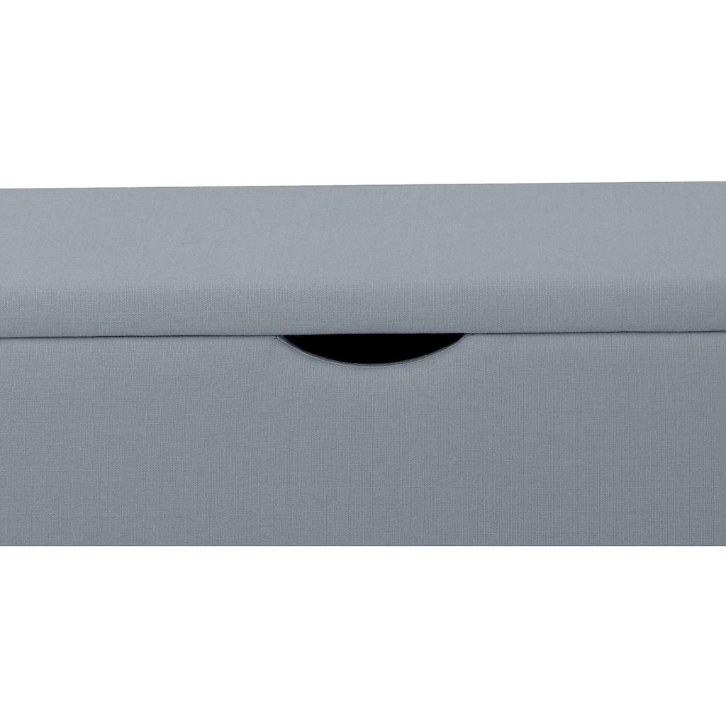 Places of Style Hockerbank »Standard«, mit Stauraum, Breite 120 cm oder 160 cm, auch als Garderobenbank oder Bettbank geeignet