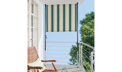 ANGERER FREIZEITMÖBEL Klemm - Senkrechtmarkise »Nr. 8700«, grün/beige, BxH: 150x275 cm kaufen