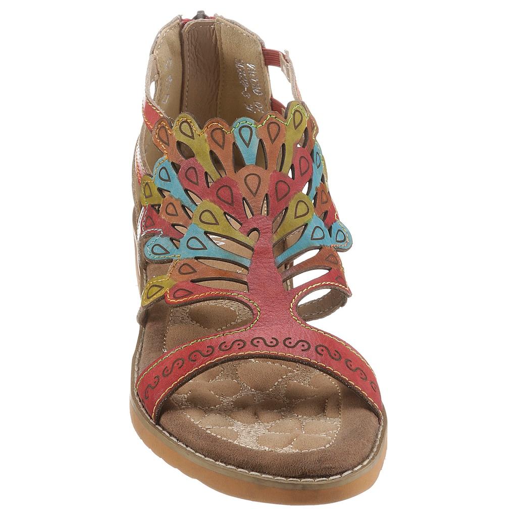 LAURA VITA Sandale »VACA«, mit Fersenreißverschluss