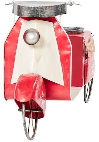 Dekoobjekt »Weihnachts-Roller X-Mas«, inkl. Pflanzgefäß, aus Metall kaufen