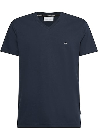 Calvin Klein T-Shirt »LOGO EMBROIDERY V-NECK T-SHIRT« kaufen