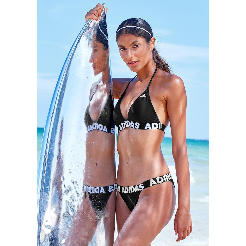 adidas Performance Triangel-Bikini, mit Markenschriftzügen