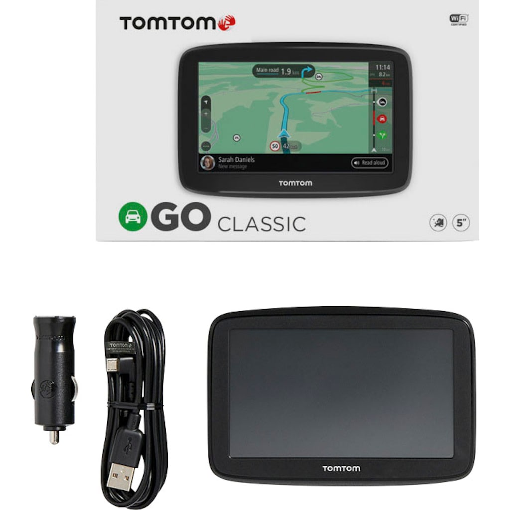 "TomTom PKW-Navigationsgerät »GO Classic 6""«, (Europa (48 Länder) Karten-Updates)"