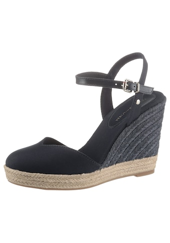 Tommy Hilfiger Sandalette »BASIC CLOSED TOE HIGH WEDGE«, mit bezogenem Keilabsatz kaufen