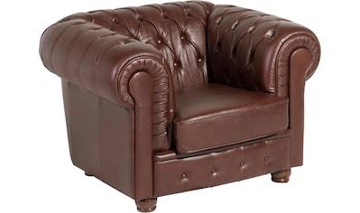 Max Winzer® Sessel »Bristol«, mit edler Knopfheftung, Breite 110 cm kaufen
