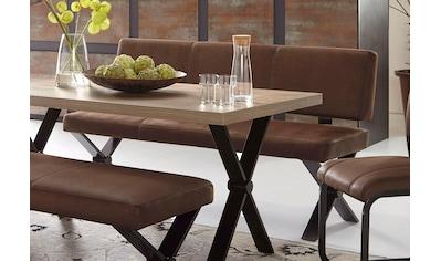 Homexperts Sitzbank »Colt«, mit Rückenlehne, Breite 140 oder 160 cm, Microfaserbezug... kaufen