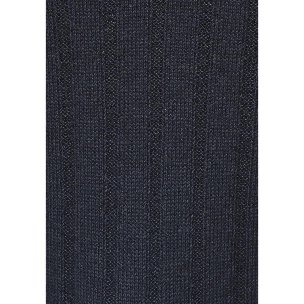 KangaROOS Strickpullover, mit Knöpfen in gestreift und uni