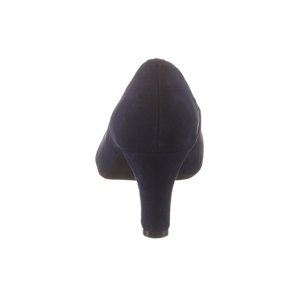 Hirschkogel Trachtenpumps in Velourslederoptik