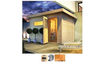 Karibu Saunahaus »Uwe 1«, 9-kW-Ofen mit ext. Steuerung, Vorraum kaufen