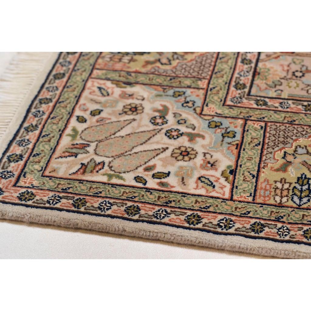 THEKO Orientteppich »Baktyari K«, rechteckig, 12 mm Höhe, Flor aus 30% Seide, handgeknüpft, mit Fransen, Wohnzimmer