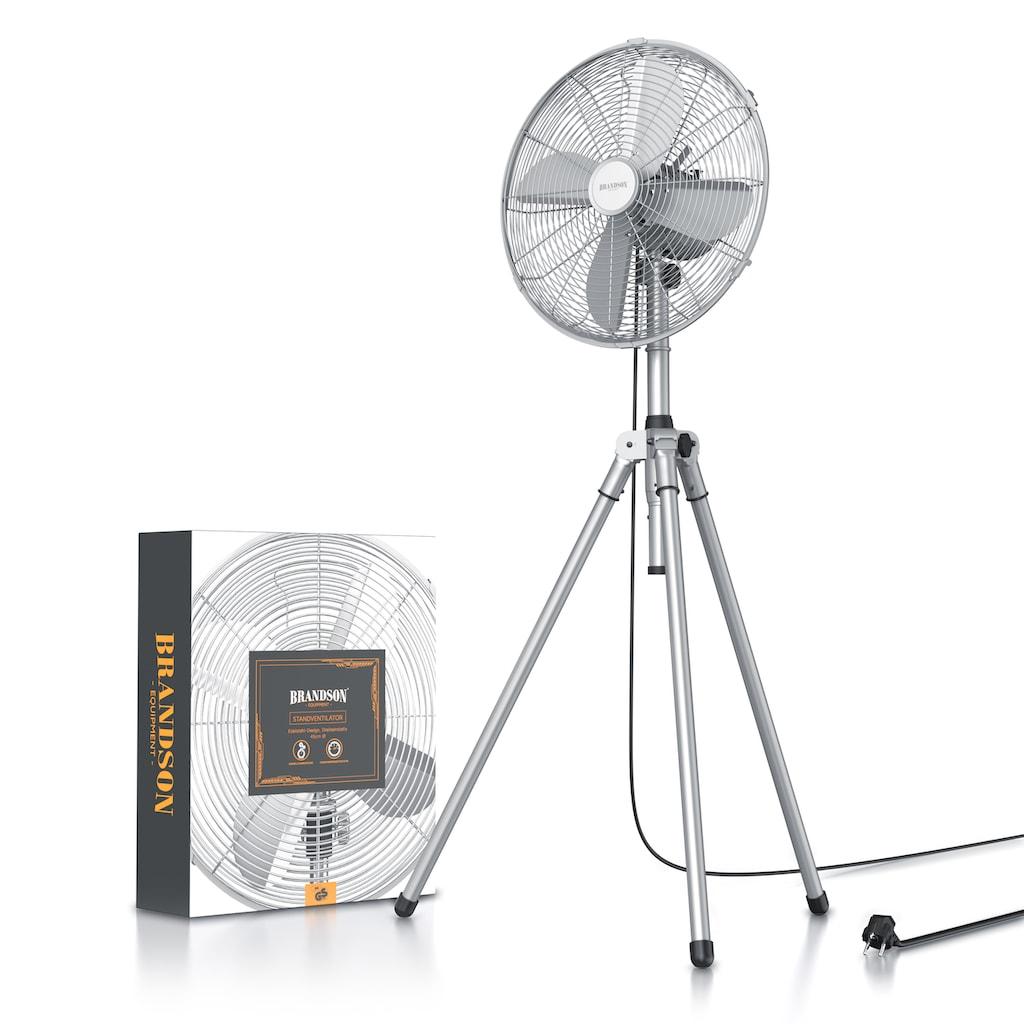 Brandson Standventilator »Tripod Ventilator Lüfter 45cm Ø«, mit Dreibeinstativ & Metallgehäuse