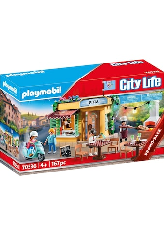 "Playmobil® Konstruktions - Spielset ""Pizzeria mit Gartenrestaurant (70336), City Life"", Kunststoff, (167 - tlg.) kaufen"