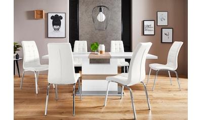 INOSIGN Essgruppe »Perez/Lila«, (Set, 5 tlg.), mit 4 Stühlen, Tisch ausziehbar, Breite... kaufen