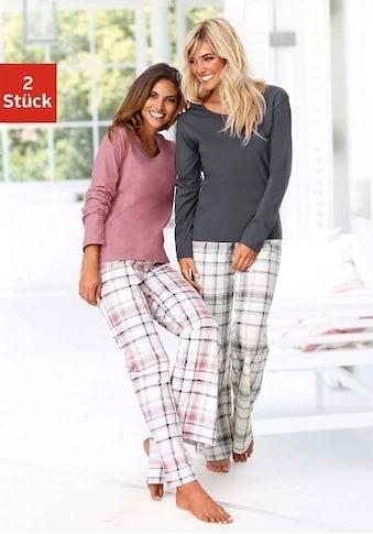 Arizona Schlafanzug, mit Hose im Karodesign kaufen