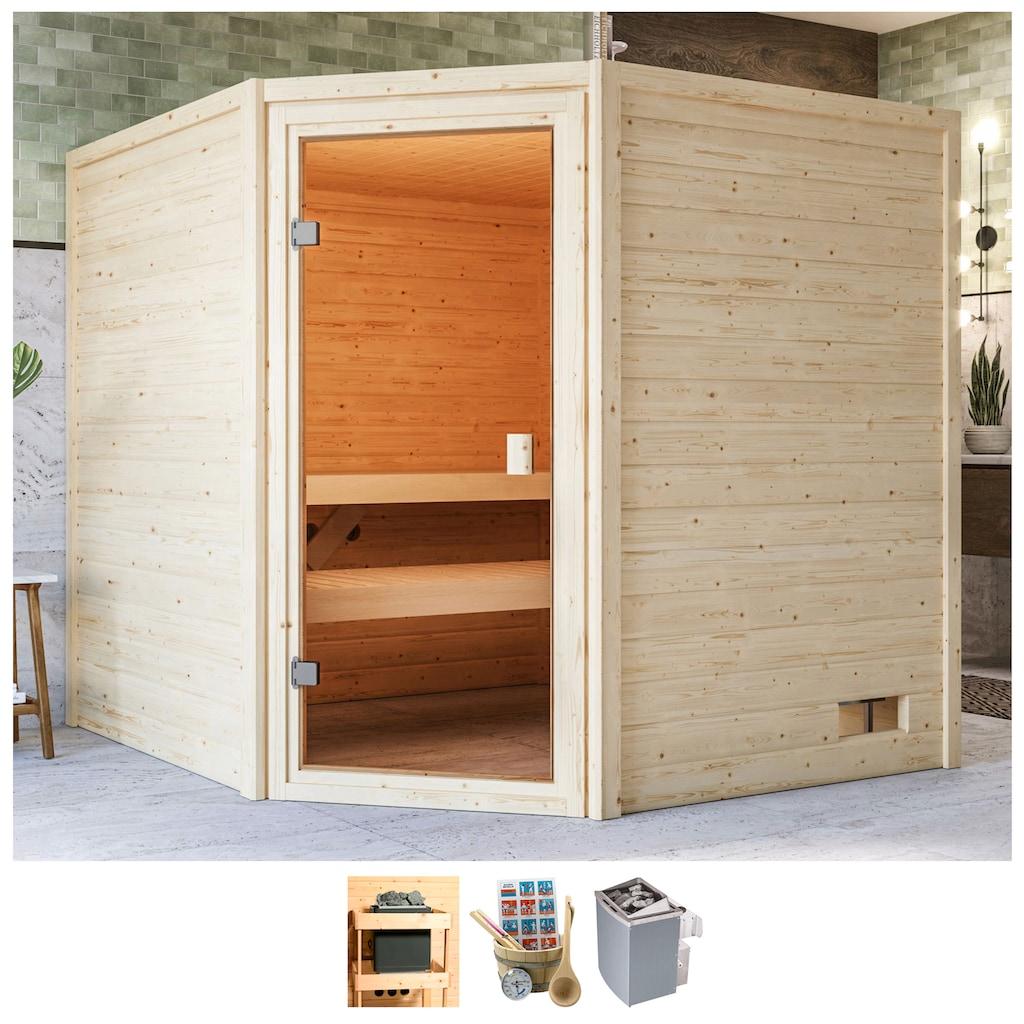 Karibu Sauna »Tami«, 4,5-kW-Ofen mit int. Steuerung
