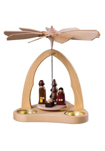 SAICO Original Tischpyramide Christi Geburt für 3 Teelichte kaufen