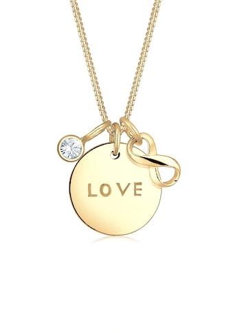 Elli Collierkettchen »Infinity Kristalle 925 Silber Amore« kaufen