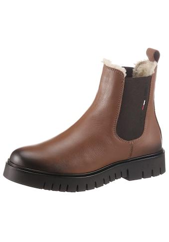 Tommy Jeans Chelseaboots »WARMLINED CHELSEA BOOT«, mit Lasche zum Anziehen kaufen