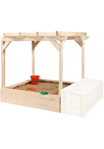 WEKA Sandkasten »Tabaluga«, BxTxH: 152x128x125 cm, mit Pergola kaufen