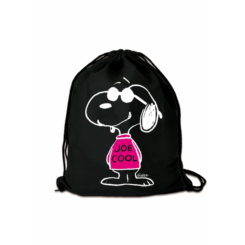 LOGOSHIRT Turnbeutel »Peanuts - Snoopy Joe Cool«, mit lizenziertem Print