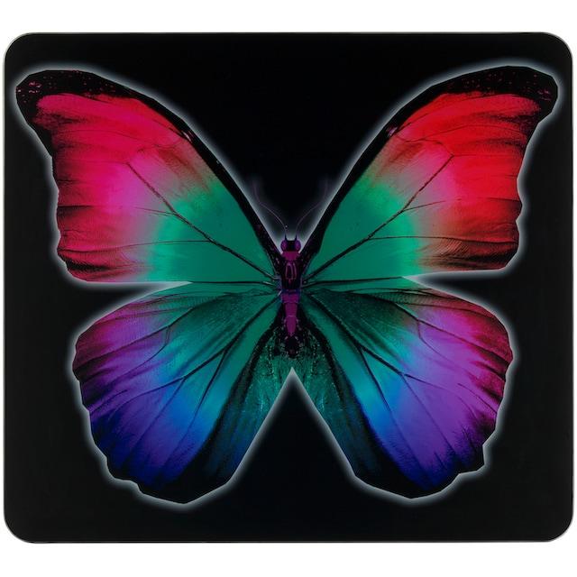 """WENKO Herd-Abdeckplatte """"Butterfly by Night"""", Glas Silikon"""