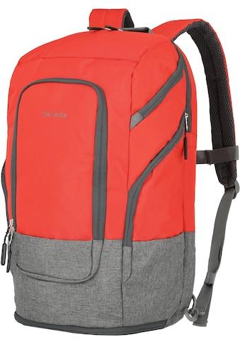 travelite Laptoprucksack »Basics L, 48 cm, rot« kaufen