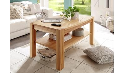 MCA furniture Couchtisch, Couchtisch Massivholz mit Ablage kaufen