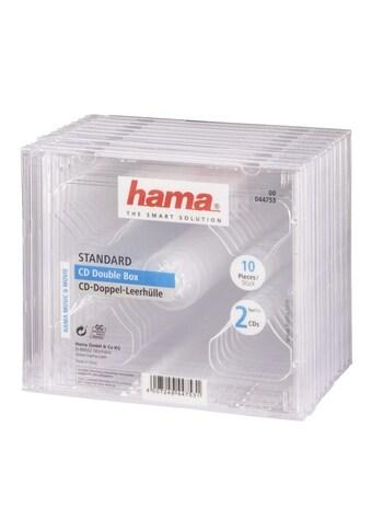 Hama CD-Doppel-Leerhülle Standard, 10er-Pack, Transparent kaufen