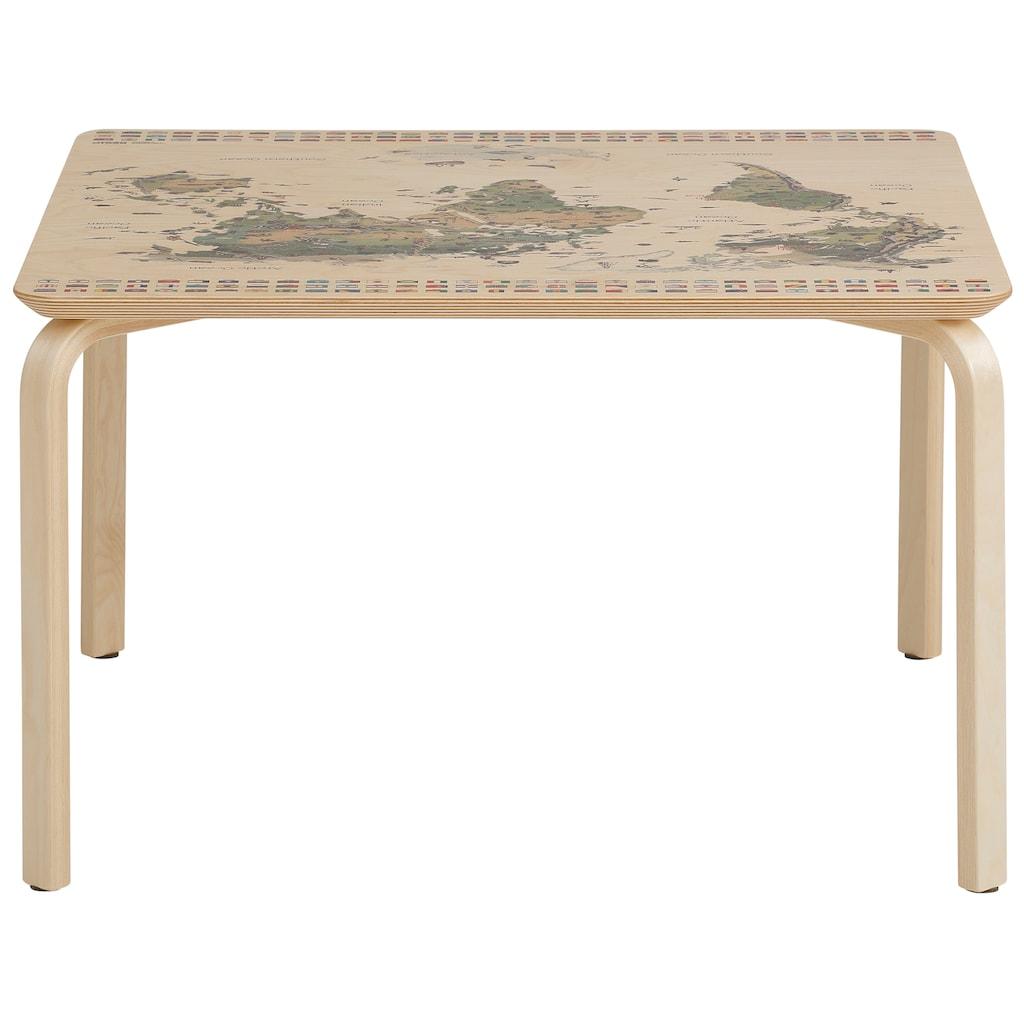 Lüttenhütt Kindertisch »Pippa«, mit Weltkarte auf der Oberplatte