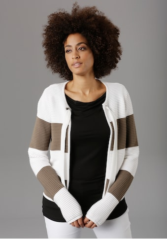 Aniston SELECTED Strickjacke, im Colourblocking - NEUE KOLLEKTION kaufen