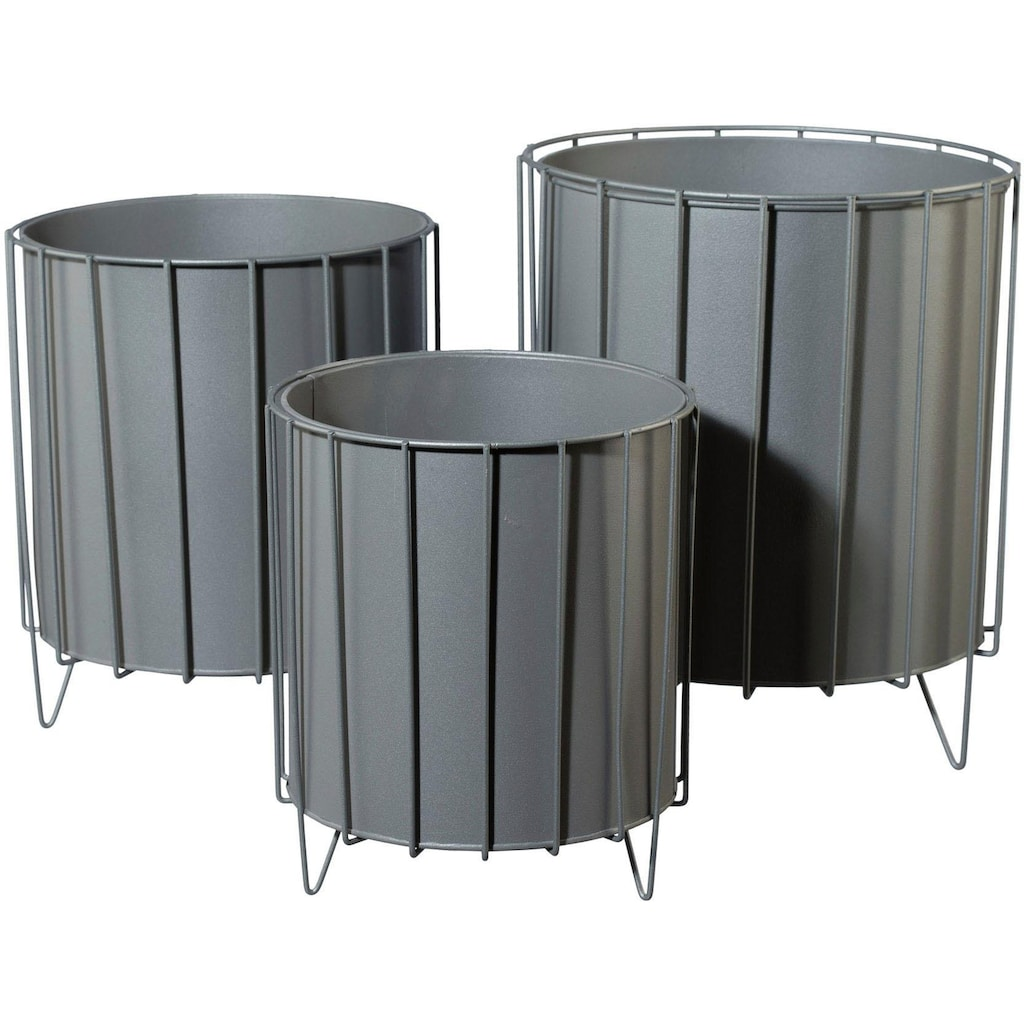 COUCH♥ Übertopf, (Set, 3 St.), Metall, COUCH Lieblingsstücke